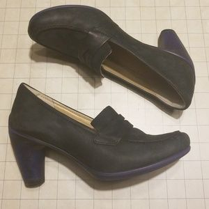 Ecco Penny Loafer Heels size 37